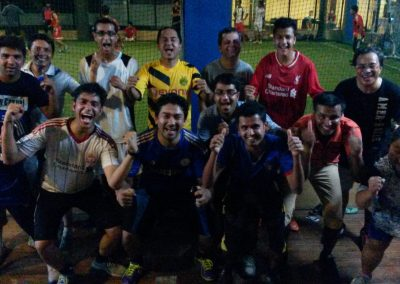 SWN team pose after footsal -2015-09-25