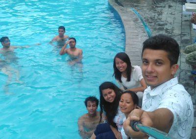 Selfi time - swiming pool- during retreat 2016